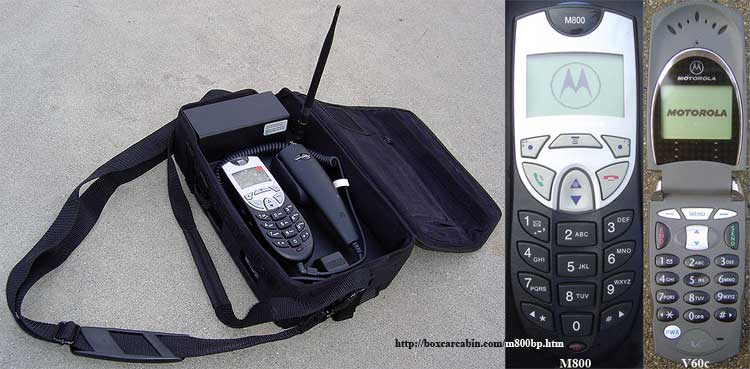 Motorola m800 digital bag phone